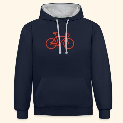 Rennrad, Race-Bike, Fahrrad - Kontrast-Hoodie