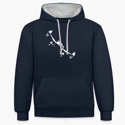 quadflyby2 - Contrast Colour Hoodie