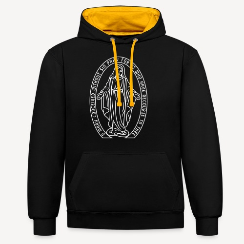 MIRACULOUS MEDAL - Contrast Colour Hoodie