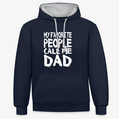 Call me DAD Vatertag Geschenk - Kontrast-Hoodie