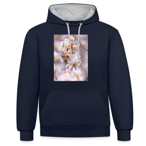 Schöne Biene 1 - Kontrast-Hoodie