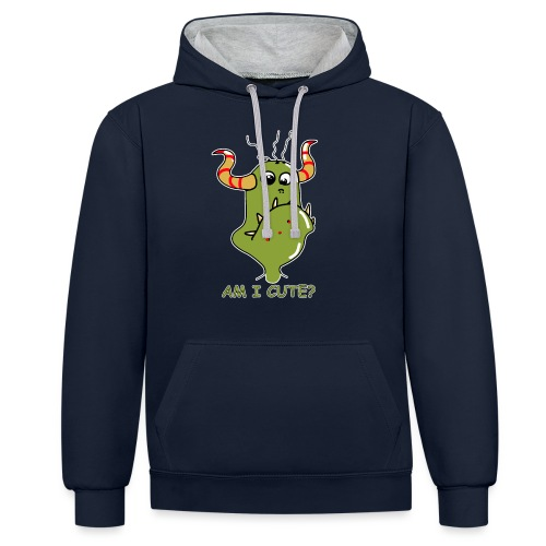 Cute monster - Contrast Colour Hoodie