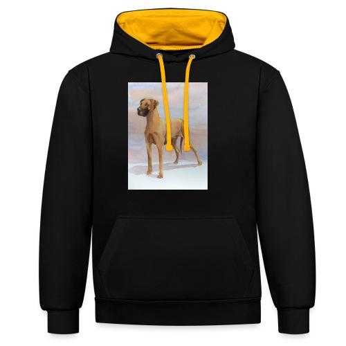 Great Dane Yellow - Kontrast-hættetrøje