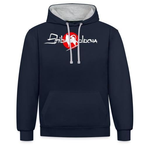 Shiba Bologna logo 2 png - Felpa con cappuccio bicromatica