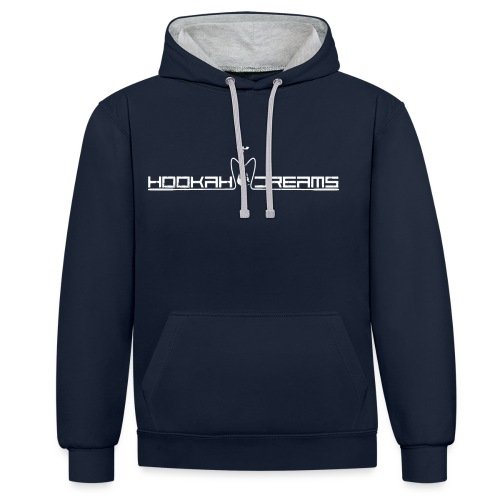 Hookahdreams - Kontrast-Hoodie