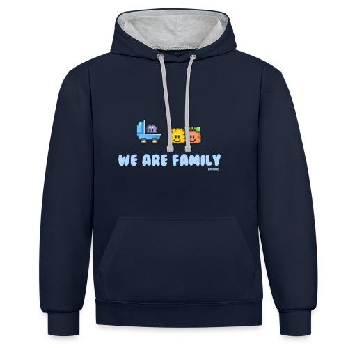 We Are Family - Boy - Kontrast-Hoodie