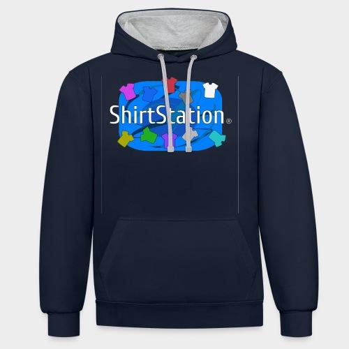 ShirtStation - Contrast Colour Hoodie