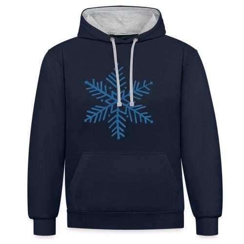 flocon de neige bleu - Sweat-shirt contraste