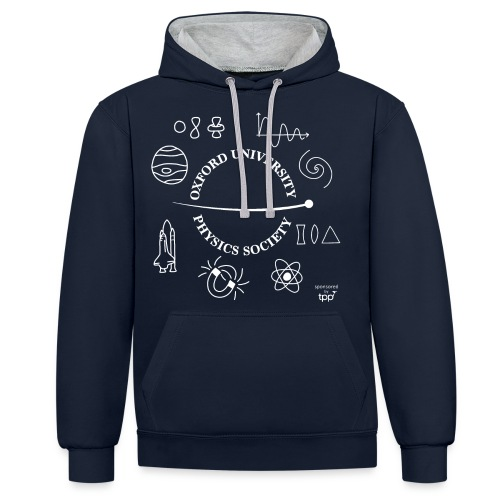 2020 OUPS Logo (Light on Dark) - Contrast Colour Hoodie
