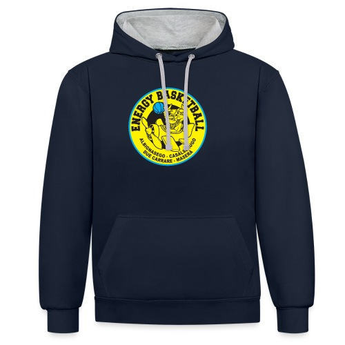 street wear energy basketball merchandising - Felpa con cappuccio bicromatica