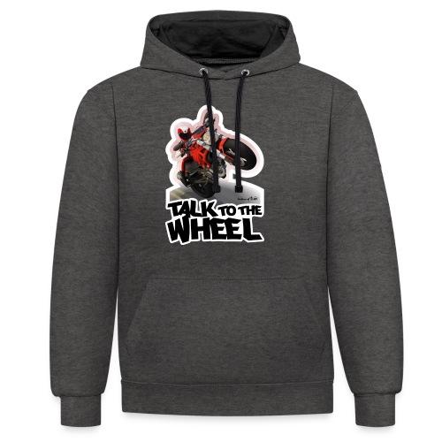Ducati Monster Wheelie B - Sudadera con capucha en contraste
