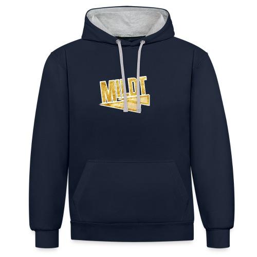 MILDT Gouden Mannen Shirt - Contrast hoodie