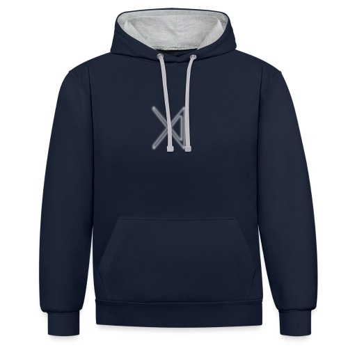 Uthoria The 4th Symbol (In White) - Contrast Colour Hoodie