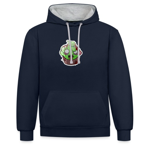 Cupake zombie couleur - Sweat-shirt contraste