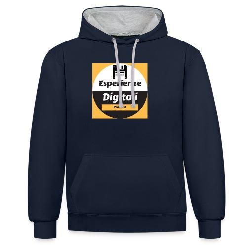 Logo Esperienze Digitali - Felpa con cappuccio bicromatica