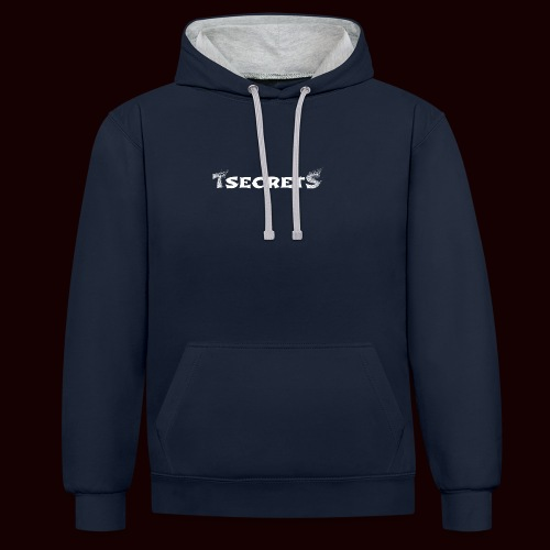 TsecretS white - Kontrast-Hoodie