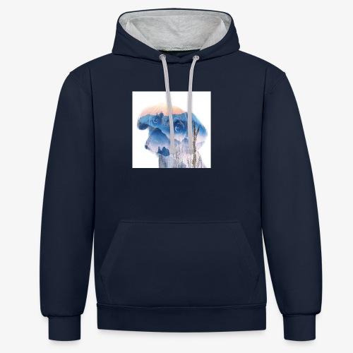 Süsser Hund - Kontrast-Hoodie