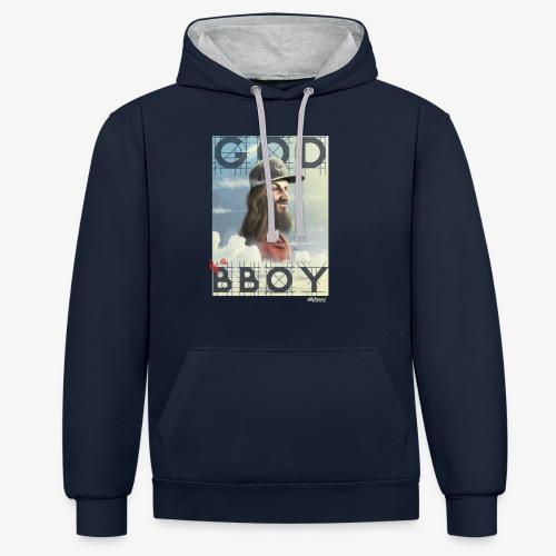 bboy - Sudadera con capucha en contraste