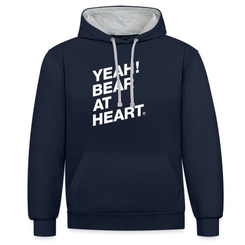 Yeah Bear at Heart - Kontrast-Hoodie