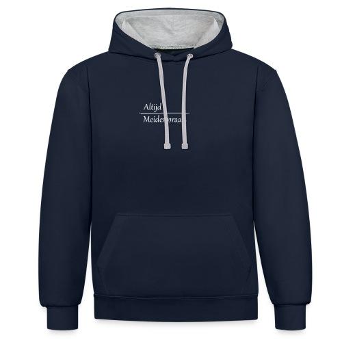 Stoffen Tas Altijd Meidenpraat - Contrast hoodie
