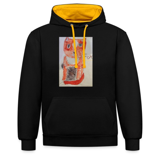 fox - Contrast Colour Hoodie