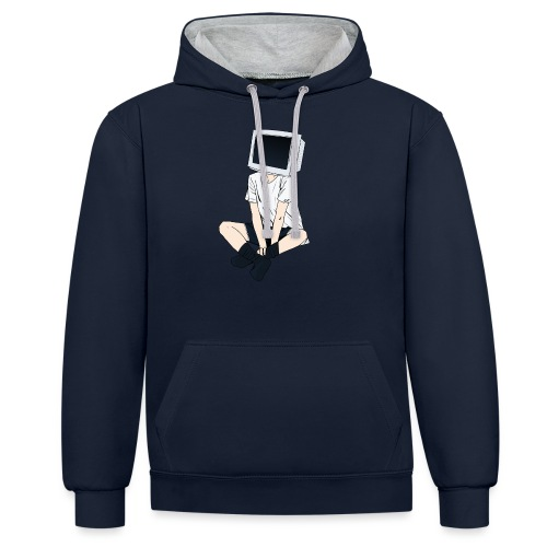 Monitor Head 3 - Contrast Colour Hoodie
