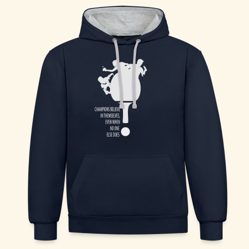 Believe in Yourself to be a Winner - Kontrast-Hoodie
