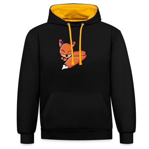 Edo le renard - Sweat-shirt contraste
