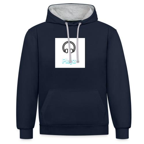 Headphone playz - Contrast Colour Hoodie