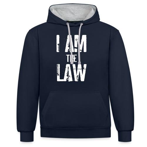 Tank top girl woman I AM THE LAW per avvocatessa - Contrast Colour Hoodie