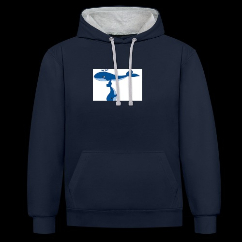 whale t - Contrast Colour Hoodie