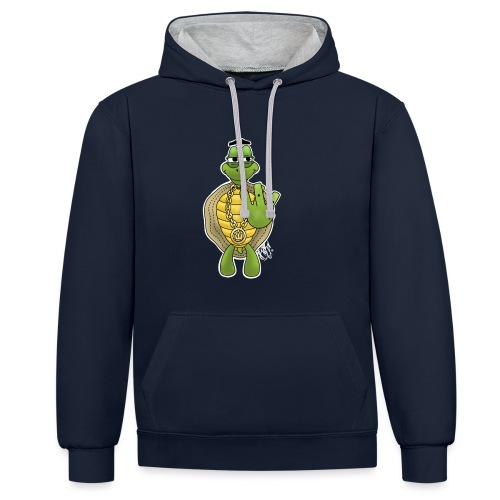 West Coast Schildkröte / Hip-Hop Turtle - Kontrast-Hoodie