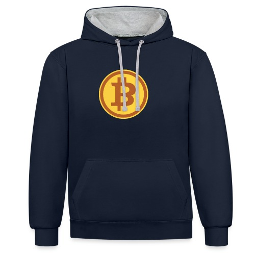 Bitcoin - Kontrast-Hoodie
