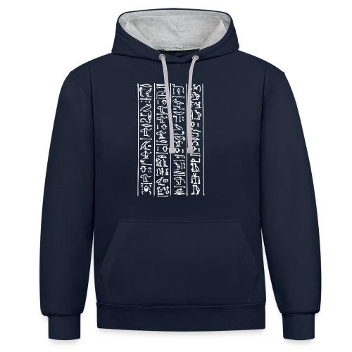 Hieroglyphen - Kontrast-Hoodie