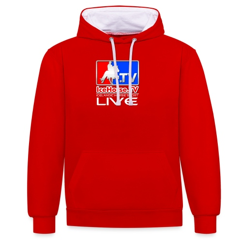 IceHorse logo - Contrast Colour Hoodie