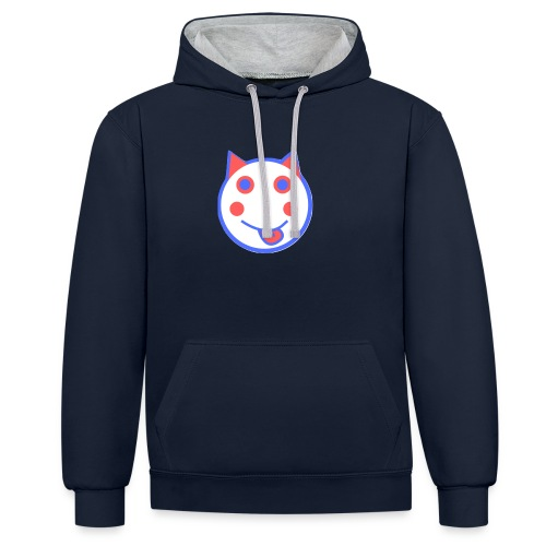 Red White And Blue - Alf Da Cat - Contrast Colour Hoodie