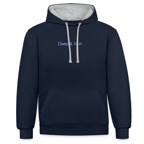 Deep&Vain Text Logo - Contrast hoodie