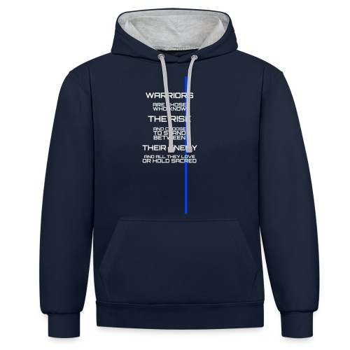 A Warrior Tribute - Sweat-shirt contraste
