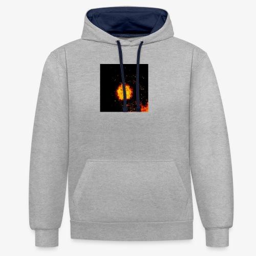 FIRE BEAST - Contrast hoodie