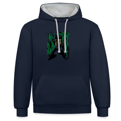 HALLOWEEN SPOOKY HAUNTED MANSION 2017 - Kontrast-Hoodie