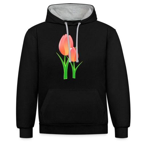Belle fleur - Sweat-shirt contraste