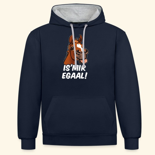 Fohlen Is Mir Egaal! (weisser Text) - Sweat-shirt contraste