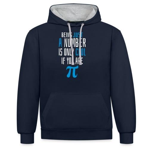 Zahl Pi Geek Spruch - Kontrast-Hoodie