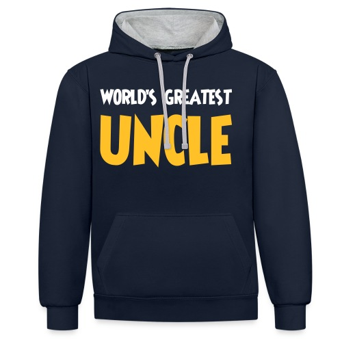 World's greatest uncle - Contrast Colour Hoodie