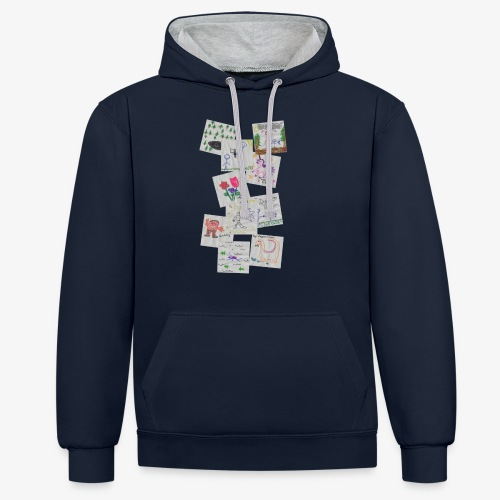 Drawings - Contrast Colour Hoodie