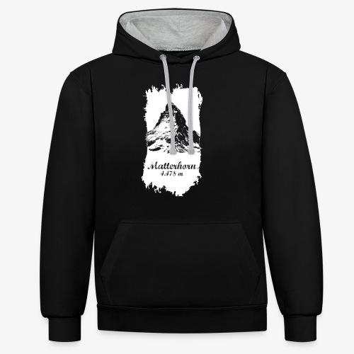 Matterhorn - Cervino - Contrast Colour Hoodie