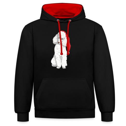 Poodle toy W - christmas - Kontrast-hættetrøje