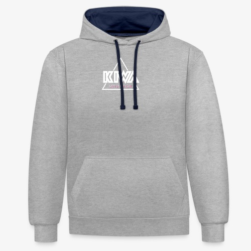 KIWA Satisfiction Logo - Contrast Colour Hoodie