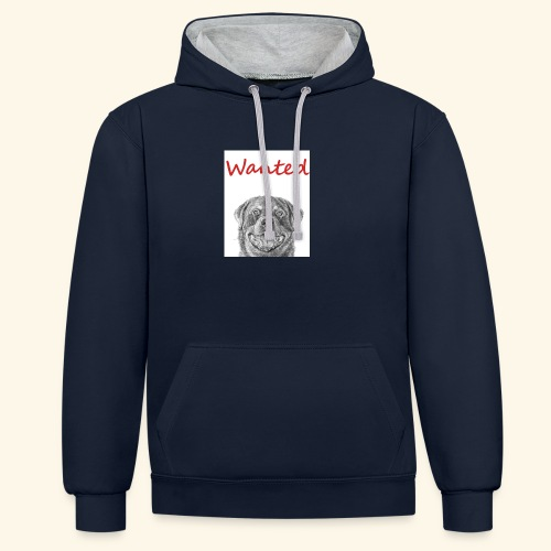 WANTED Rottweiler - Contrast Colour Hoodie