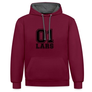 Lars - Name - Contrast Colour Hoodie